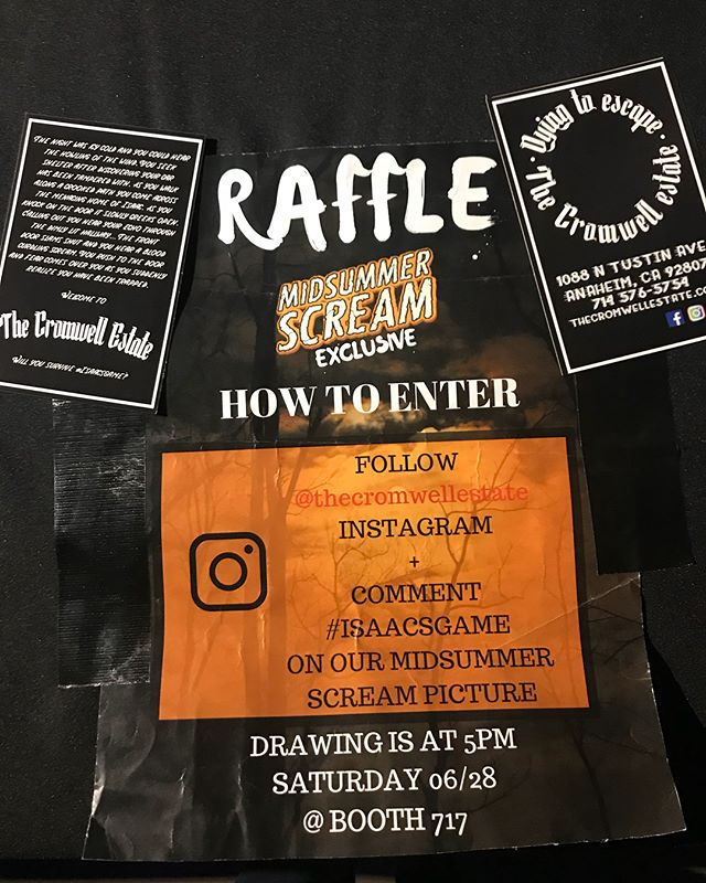 Stop by our booth @midsummerscream !!! Located in the Hall of Shadows booth #717, ask about our raffle!