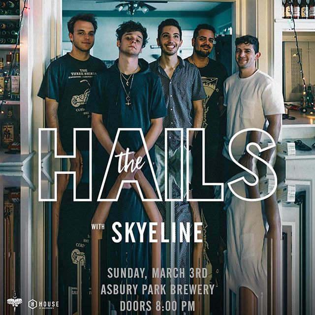 MARCH 3RD🎉 WITH @the_hails  ASBURY PARK BREWERY ASBURY, NJ TICKETS $10 (ticket link in bio!) DOORS 8PM