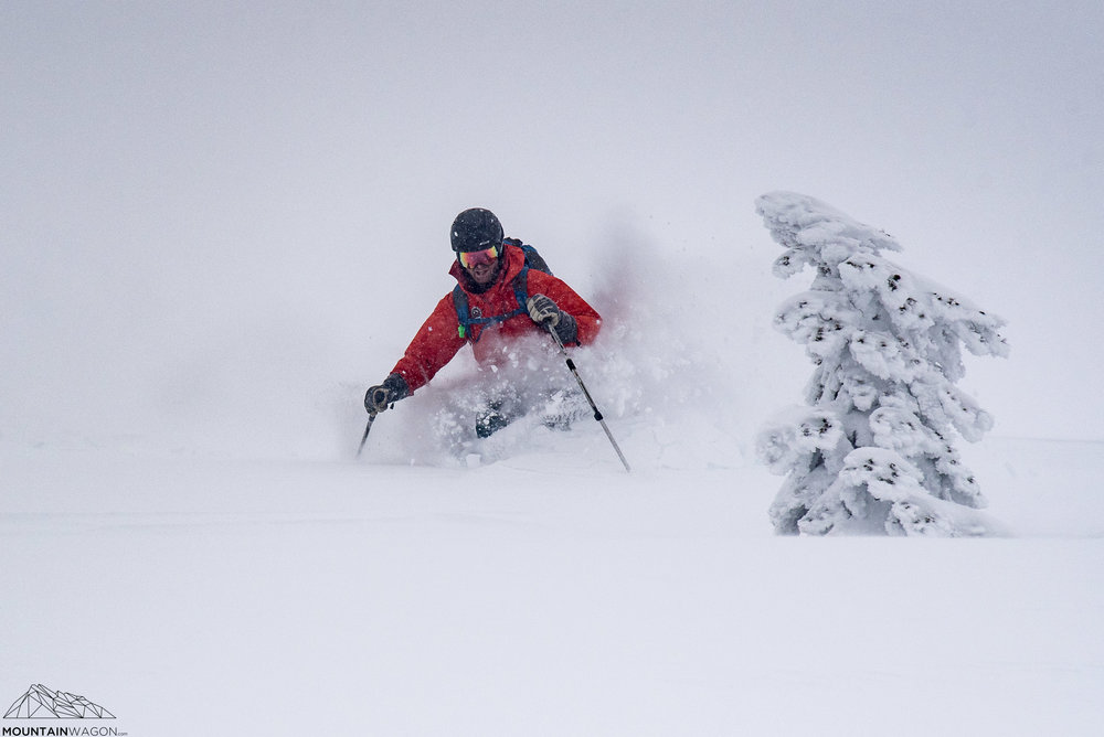 Ski guide Sam doing some quality control. Pass!