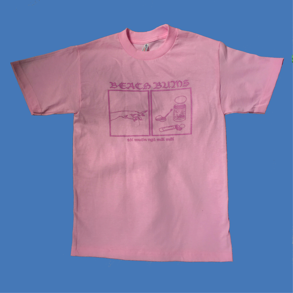 i want to sleep forever (pink tee)    *sold out*