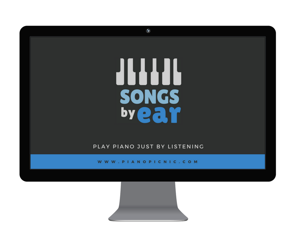 Songs By Ear - Teach yourself the songs you love on the piano, just by listening! Learn my proven 10-step method to identify the notes you hear and decipher songs easily so that you can teach yourself your favourite songs without having to pay for, or read sheet music!
