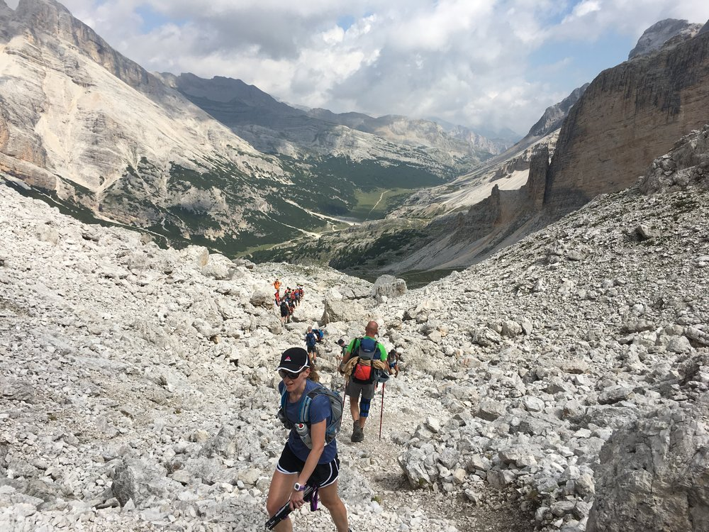 Trail to Rifugio Lagazuoi Alta Via 1 Italian Dolomites
