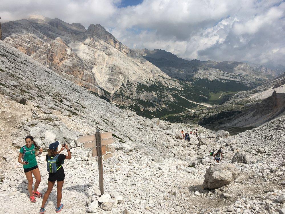 Dolomites Trail Running Alta Via 1 Hut to Hut RIfugio Fanes to Rifugio Lagazuoi