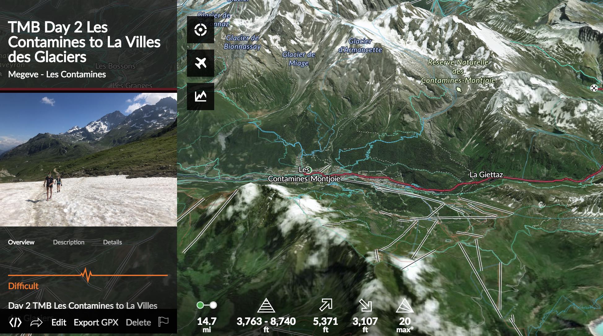 best map tour du mont blanc — Runcation Travel - Blog