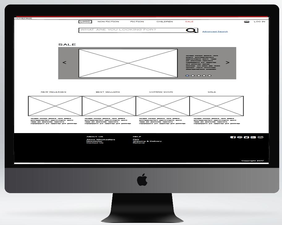 Bookstore project - Website concept design