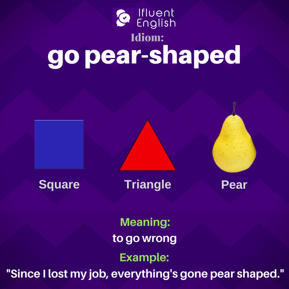 Idiom: go pear shaped