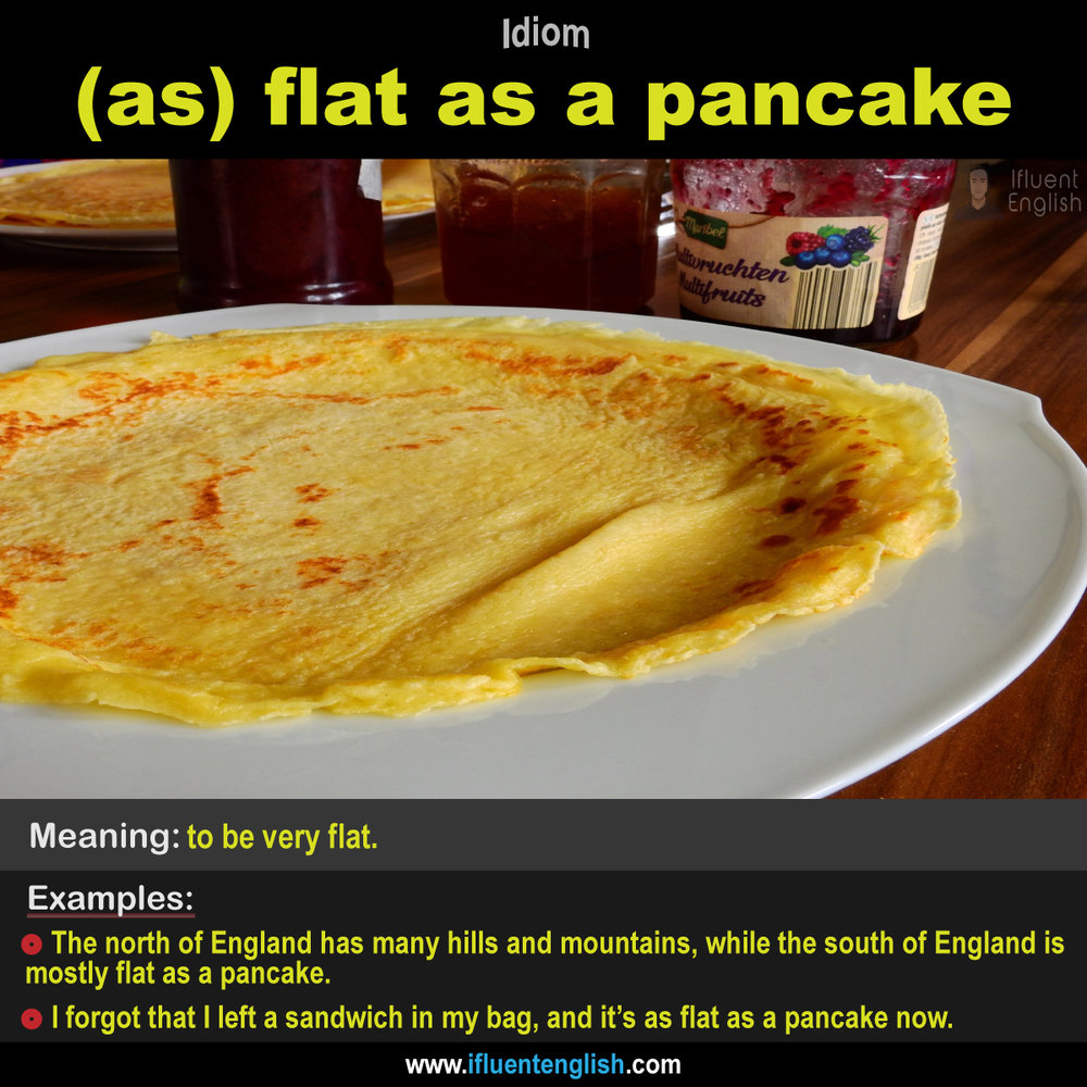 As flat as a pancake