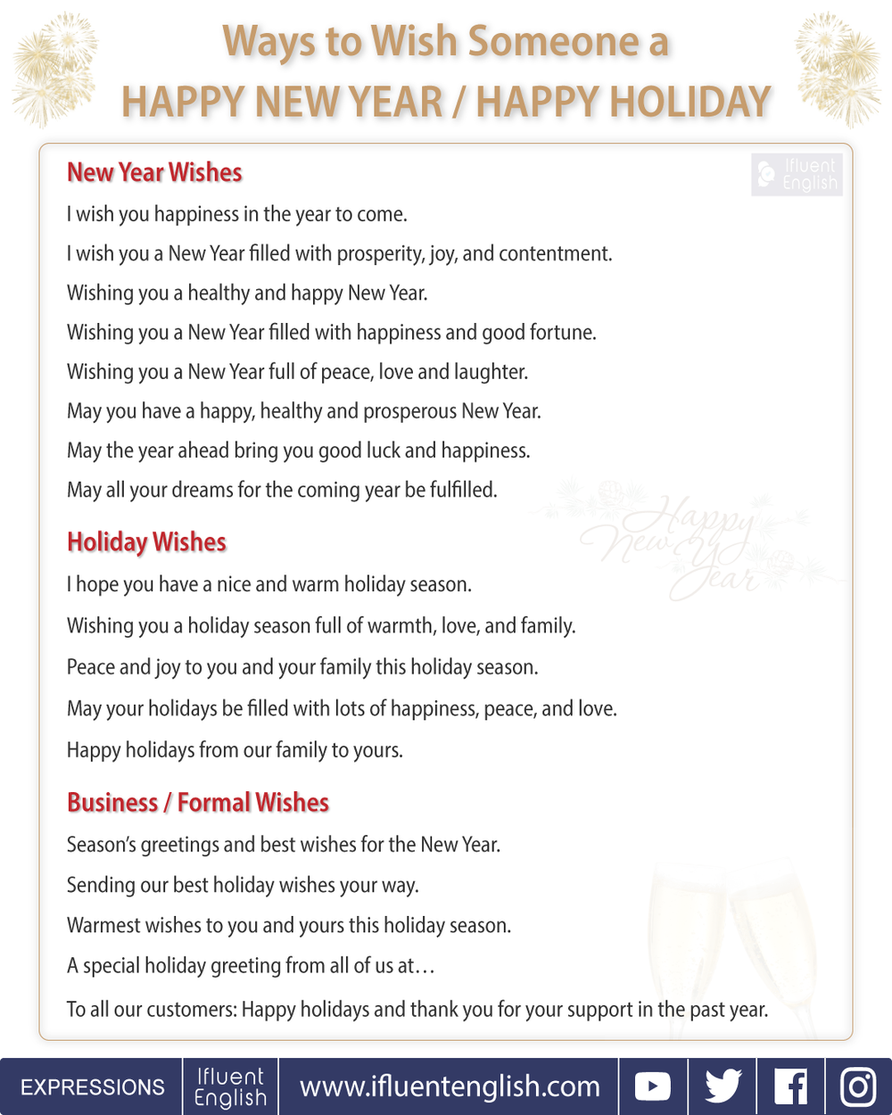 ways to wish someone a happy new year or happy holiday for friends family