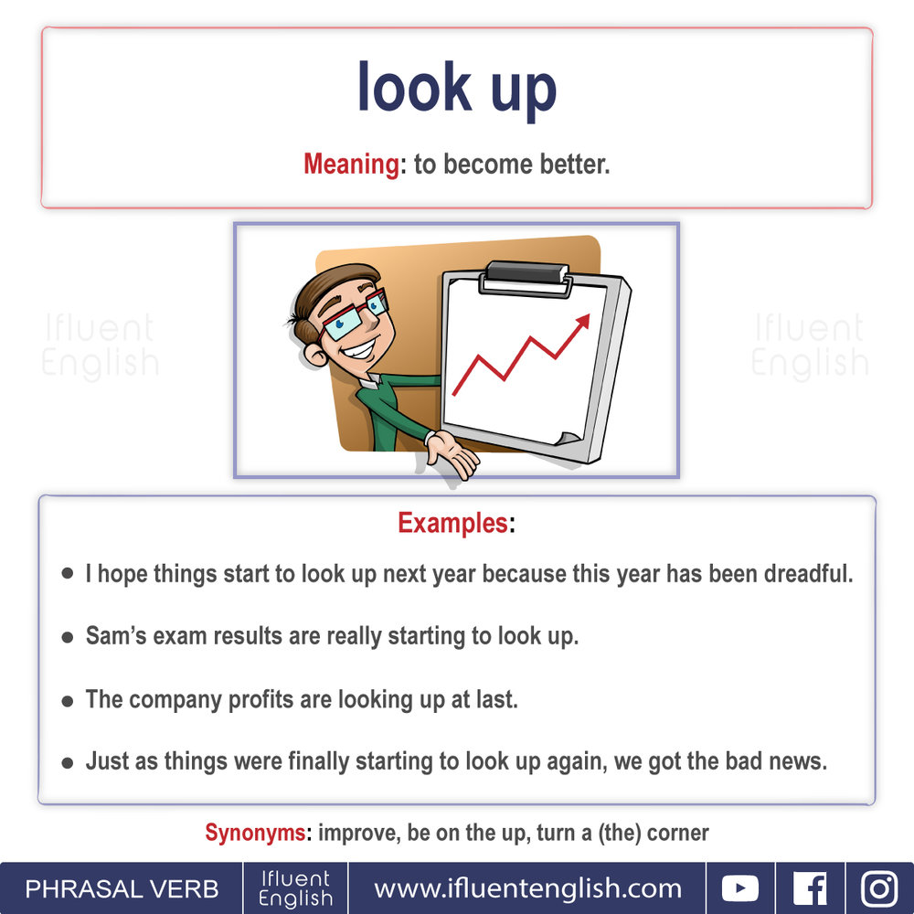 Phrasal Verb- Look up  Meaning - to become better