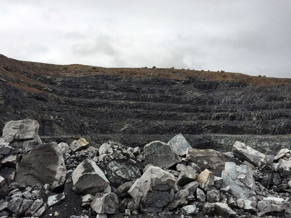 The quarry where Jesse searches for the perfect piece of Slate.  (Photo by Devin Paisley)