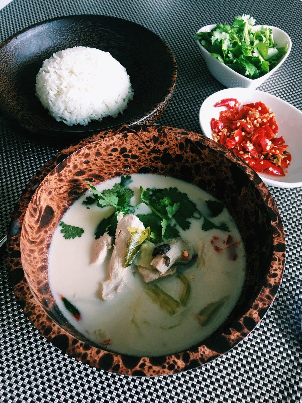 TOM KHA GAI - Thai Chicken Coconut Soup
