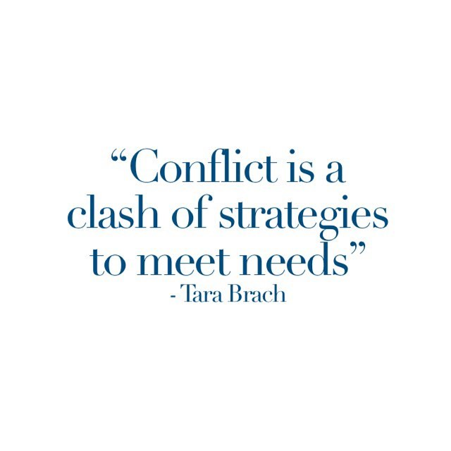 We are programmed to feel threatened when conflict arises. We want to blame and make sure we are right! But if we take to heart what @tarabrach says then we can use the conflict to learn more about our own needs and those of others. Ask yourself 'what unmet needs are we actually fighting for?' Try to distinguish between your personal needs and those of the couple. A personal need may be to be acknowledged. A couple's need may be that there is respect and equality between the two partners. It's very empowering to take responsibility for your personal needs as well as contribute to the joint needs. ____________________________We lose the capacity to reflect like this when we feel under threat or when we feel that we are not coping. This is especially true for parents with young children. Couples' basic need for sleep, food and exercise are often not met and these very things then become what they fight about. This is also my topic for today's talk. ___________________________ Underneath the unmet needs there is also feelings of failure. We feel like we are failing as a couple, as parents and as individuals. By sharing these fears we reduce the temptation to blame and move a bit closer to each other. #couples #relationships #conflict #mindfulness #consciousrelationship #parenthood #couplestherapy