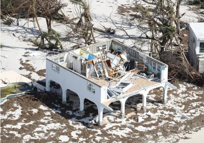 major home damage from Hurricane Irma in Big Pine Key, Florida.  Source: J. Raedle, Getty Images