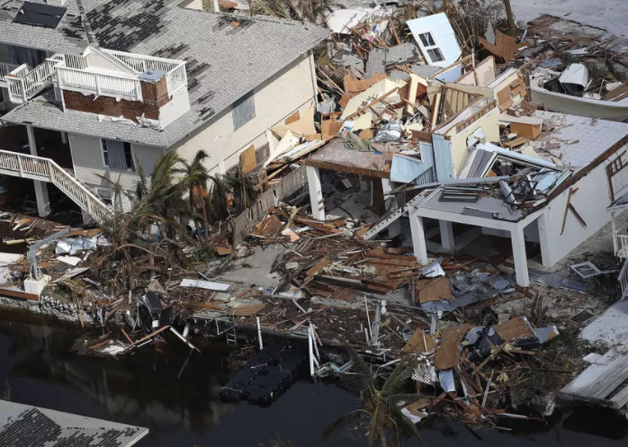 Recent Hurricane Irma damage in Ramrod Key, Florida.  Source: J. Raedle, Getty Images