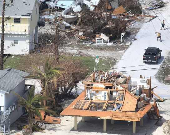 home damage in Big Pine Key, Florida from recent Hurricane Irma.  Source: J. Raedle, Getty Images