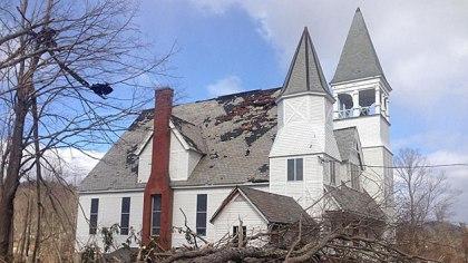 Grafton, ma area roof damage insurance claim.