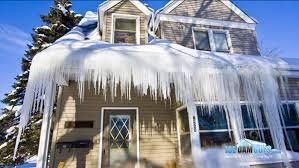 Westport, ma area major ice dam / inside ceiling damage insurance claim.
