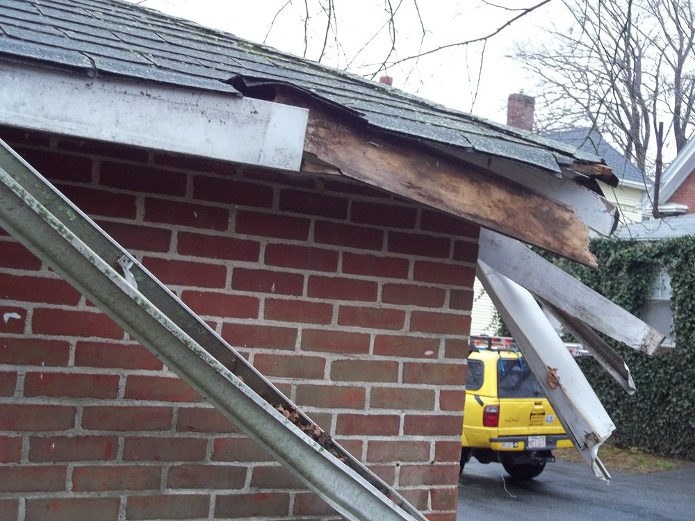 Easton, ma area wind roof damage insurance claim.