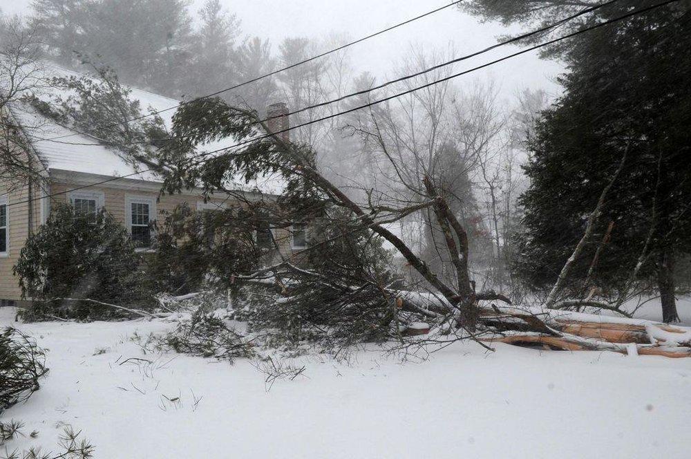 West Bridgewater, ma winter storm damage insurance claim.