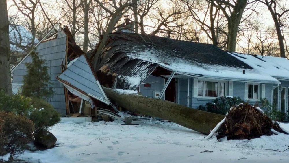 Attleboro, ma winter storm damage insurance claim.