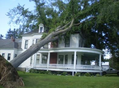 Taunton, ma area major wind damage insurance claim.
