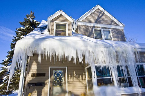 Danvers, ma ice dam, roof leak damage insurance claim.