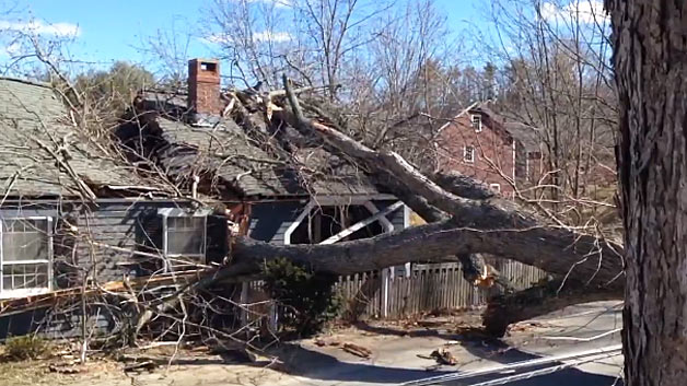 Hamilton, ma wind storm damage insurance claim.