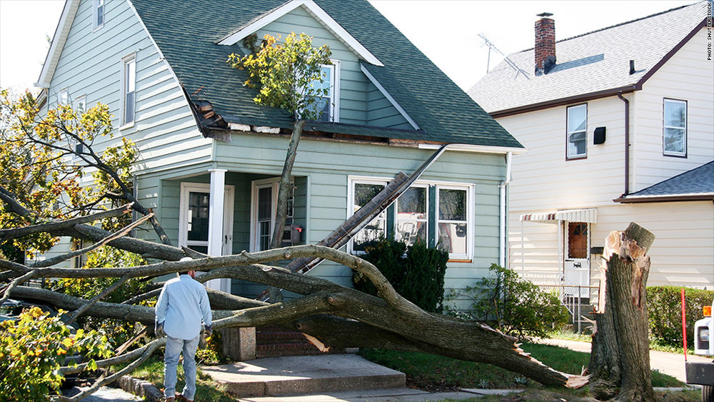 Lynnfield, ma wind storm damage insurance claim.