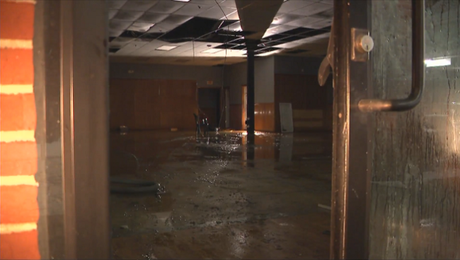 recent Narragansett, RI winter storm pipe burst / flooded basement insurance claim.