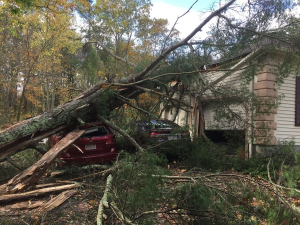 Groveland MA wind damage claim