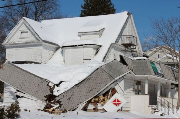 Nahant MA major roof collapse damage claim