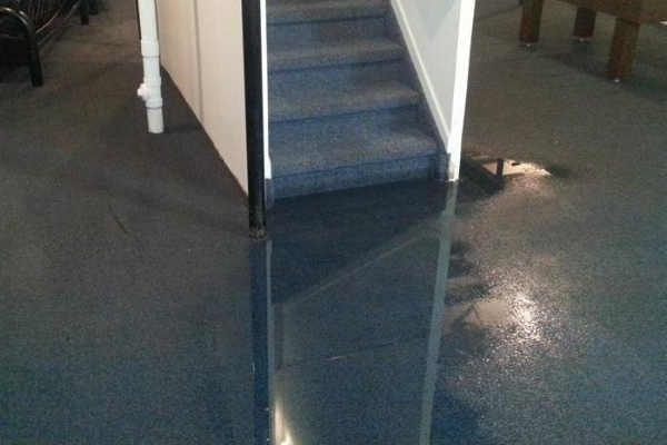 Salem NH flooded basement and water damage claim