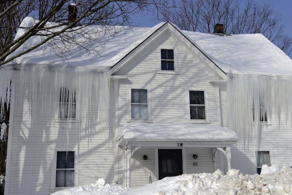 Salem NH ice dam and water damage claim