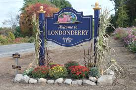 welcome to Londonderry, NH sign.