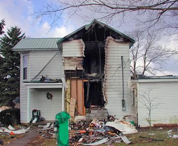 Recent South Hooksett NH fire damage claim