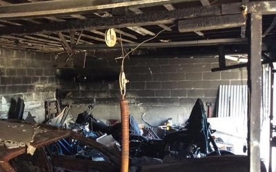 Recent Windham NH garage fire damage claim