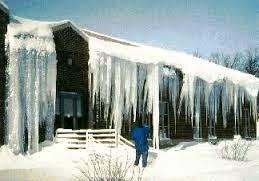 Recent York, ME ice dam roof damage claim