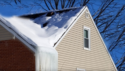 Recent Milford NH ice dam insurance claim