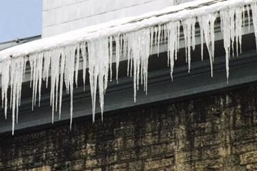 Recent Smithfield RI ice dam damage claim