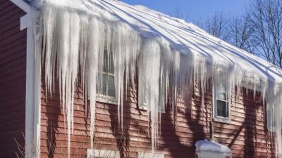 Recent Scituate RI ice dam damage claim