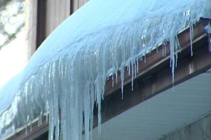 Recent Ashford CT ice dam / water claim