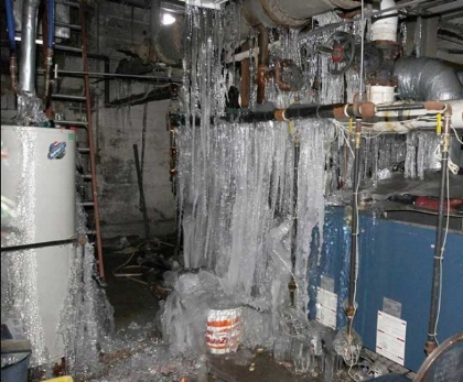Recent Bedford NH pipe burst damage claim