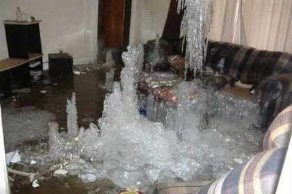 Recent Charlestown RI pipe burst damage claim