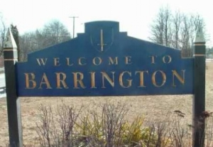 Barrington, RI welcome sign.