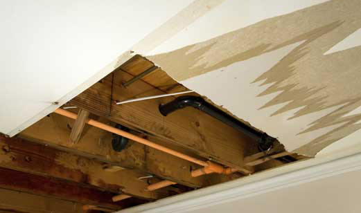 Recent Warwick RI pipe burst insurance claim