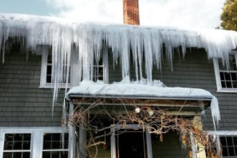 Recent Waltham MA ice dam roof damage claim