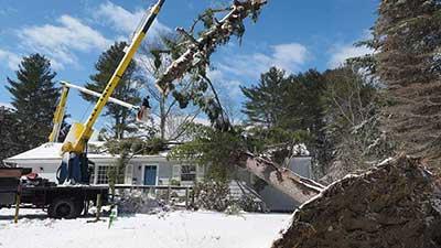 Recent Kittery ME roof structural damage claim