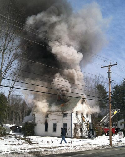 Recent Arundel ME house fire damage claim