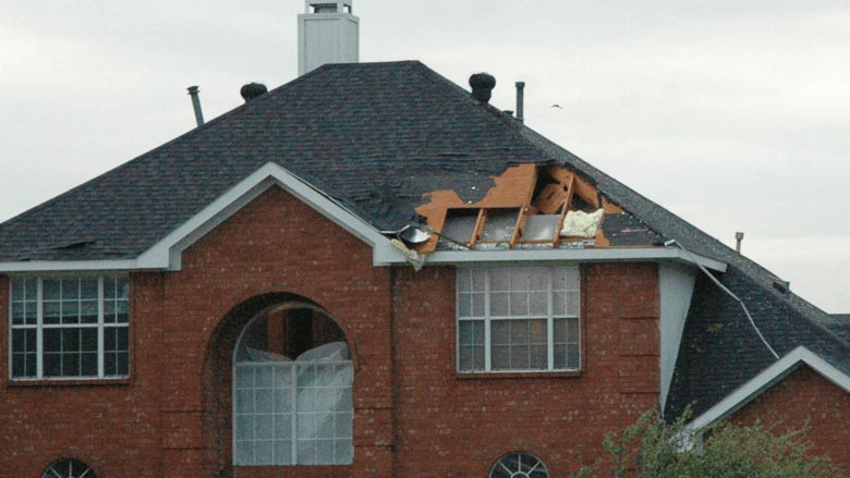 Recent Woodstock CT roof damage claim