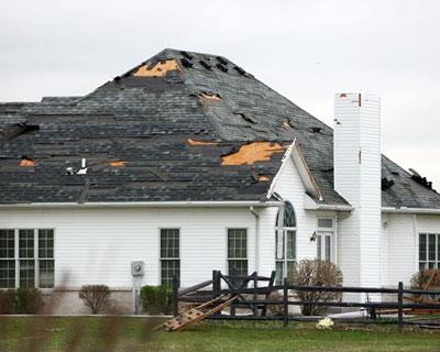 Recent Tolland CT roof damage claim